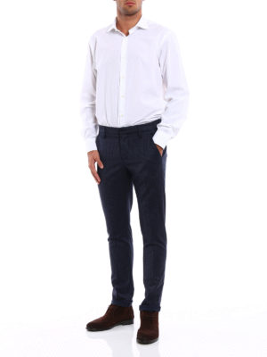 Dondup: casual trousers online - Gaubert gingham wool trousers
