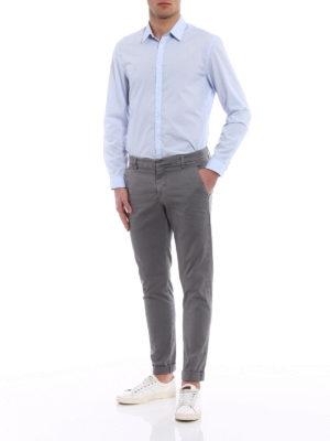 Dondup: casual trousers online - Gaubert grey cotton trousers
