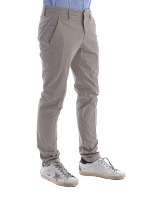 Dondup: casual trousers online - Gaubert light cotton trousers