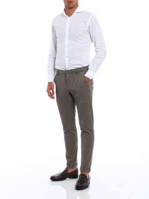 Dondup: casual trousers online - Gaubert micro houndstooth trousers