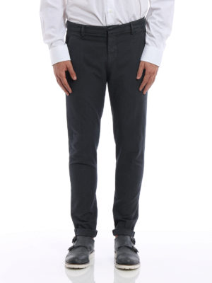 Dondup: casual trousers online - Gaubert micro patterned trousers
