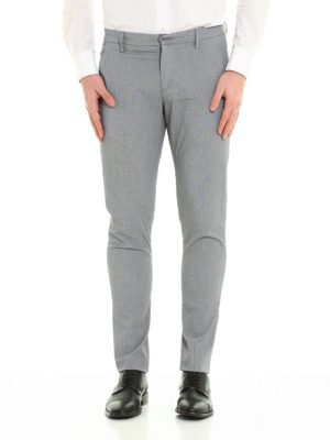 Dondup: casual trousers online - Gaubert printed cotton trousers