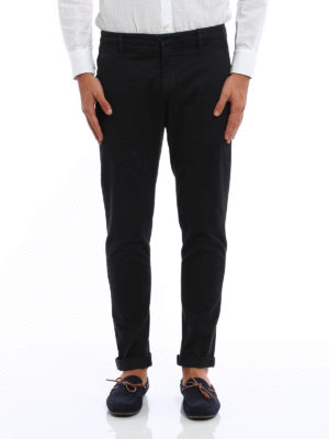 Dondup: casual trousers online - Gaubert stretch cotton trousers