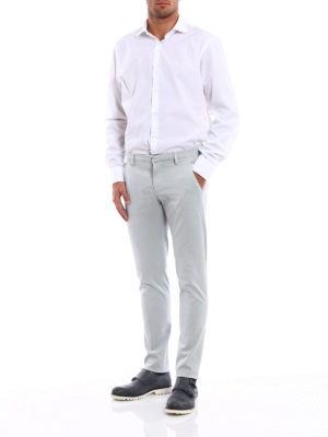 Dondup: casual trousers online - Gaubert used cotton drill chinos