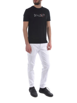 Dondup: casual trousers online - Gaubert white trousers