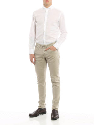Dondup: casual trousers online - George cotton trousers