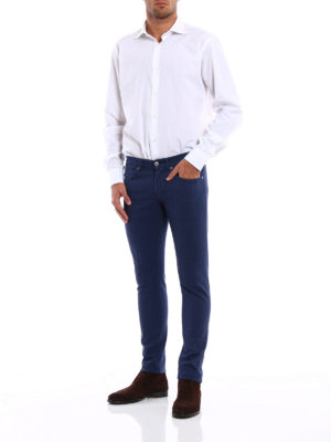 Dondup: casual trousers online - George skinny fit cotton trousers