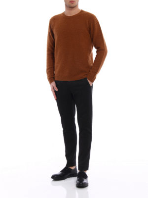 Dondup: casual trousers online - Iconic cotton blend denim trousers