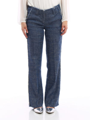 Dondup: casual trousers online - Ingride linen and silk trousers