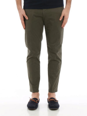 Dondup: casual trousers online - Maury cotton trousers