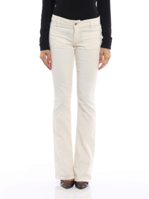 Dondup: casual trousers online - Morrison corduroy bootcut trousers