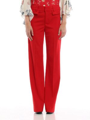 Dondup: casual trousers online - Palace wool palazzo trousers