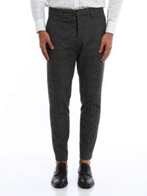 Dondup: casual trousers online - Palmer houndstooth trousers