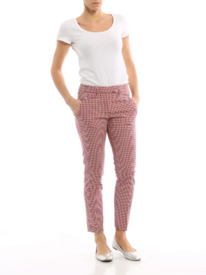 Dondup: casual trousers online - Perfect gingham wool trousers