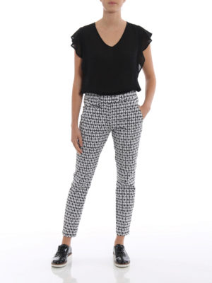 Dondup: casual trousers online - Perfect heart pattern trousers