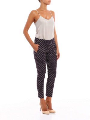 Dondup: casual trousers online - Perfect jacquard cotton trousers