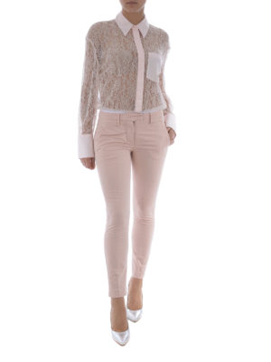 Dondup: casual trousers online - Perfect pink cotton trousers