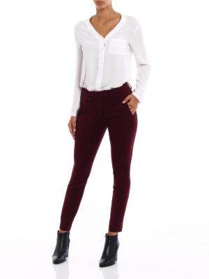 Dondup: casual trousers online - Perfect stretch viscose trousers