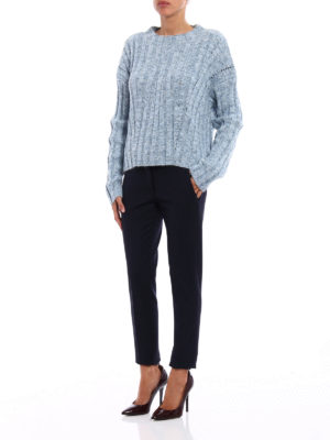 Dondup: casual trousers online - Perfect stretch wool trousers