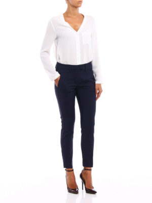 Dondup: casual trousers online - Perfect wool blend trousers