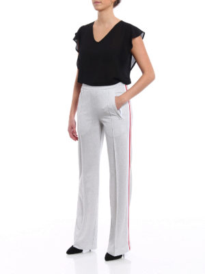 Dondup: casual trousers online - Silver lurex jogging pants