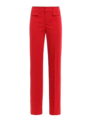 Dondup: casual trousers - Palace wool palazzo trousers