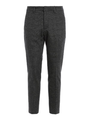 Dondup: casual trousers - Palmer houndstooth trousers