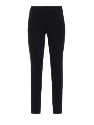 DONDUP: pantaloni casual - Pantaloni Perfect in jersey nero