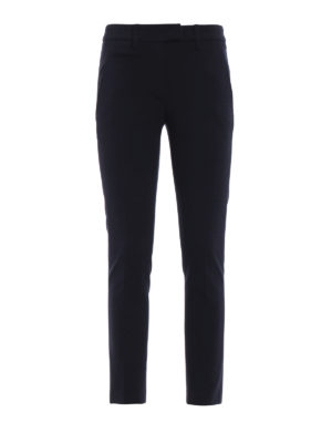 DONDUP: pantaloni casual - Pantaloni Perfect in jersey blu