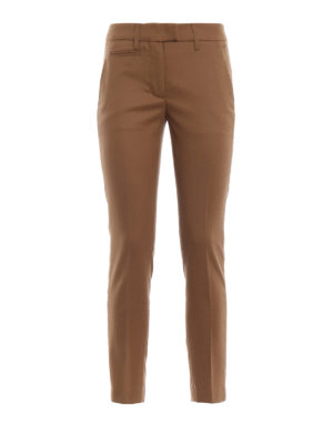 DONDUP: pantaloni casual - Pantaloni Perfect crop color cammello