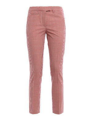 Dondup: casual trousers - Perfect gingham wool trousers