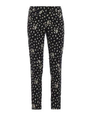 DONDUP: pantaloni casual - Pantaloni Perfect in misto cotone jacquard