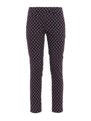 Dondup: casual trousers - Perfect jacquard cotton trousers