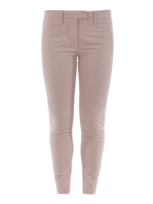 DONDUP: pantaloni casual - Pantaloni Perfect in cotone rosa