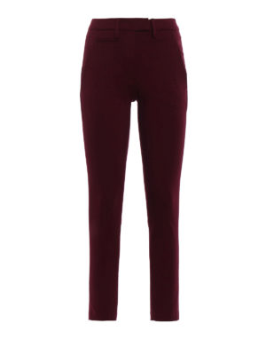 Dondup: casual trousers - Perfect stretch viscose trousers