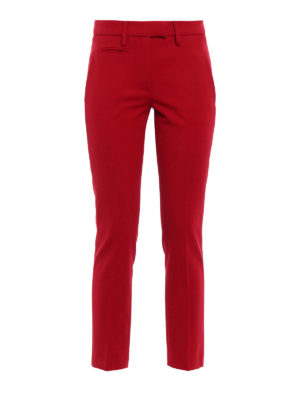Dondup: casual trousers - Perfect stretch wool trousers