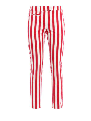 Dondup: casual trousers - Perfect striped cotton trousers