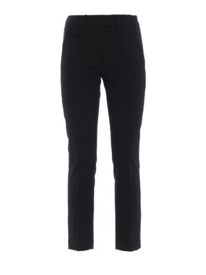 DONDUP: pantaloni casual - Pantaloni Perfect crop in twill di lana