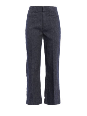 Dondup: casual trousers - Romy linen blend trousers