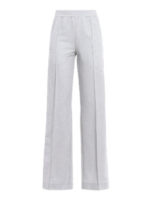 Dondup: casual trousers - Silver lurex jogging pants