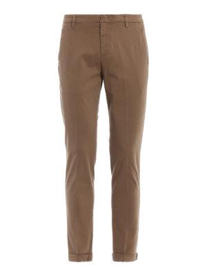 DONDUP: pantaloni casual - Pantaloni Gaubert in misto cotone color beige