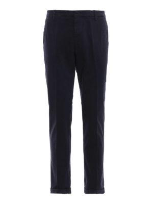 DONDUP: pantaloni casual - Pantaloni Gaubert blu scuri in misto cotone