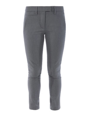 Dondup: casual trousers - Stretch wool chino trousers