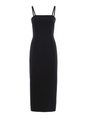 Dondup: cocktail dresses - Babaman wool blend sheath dress