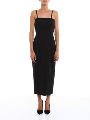 Dondup: cocktail dresses online - Babaman wool blend sheath dress