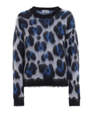DONDUP: maglia collo rotondo - Maglione in misto mohair jacquard animalier