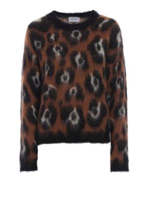 DONDUP: maglia collo rotondo - Maglione in misto mohair animalier jacquard