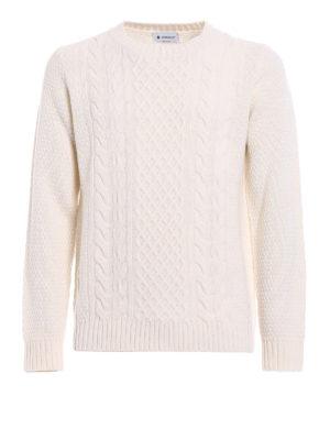 Dondup: crew necks - Braided merino wool crewneck