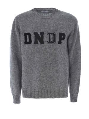 Dondup: crew necks - Different textures logo crewneck