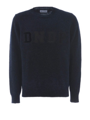 Dondup: crew necks - Different textures logo wool pull